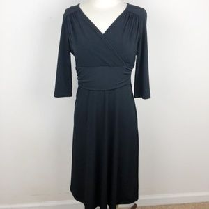 Merona V-Neck Black Dress Size Medium